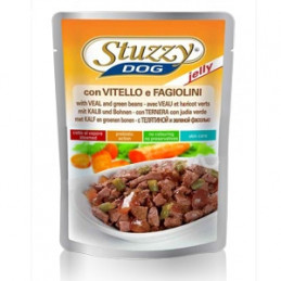 STUZZY DOG Vitello e Fagiolini in Gelatina 100 gr. -
