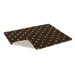 VETBED Tappeto Antiscivolo Brown with Blue Polka Dot Taglia S 75x50 cm. -
