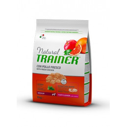 Trainer Natural Puppy & Junior Medium con Pollo Fresco 12 Kg. -