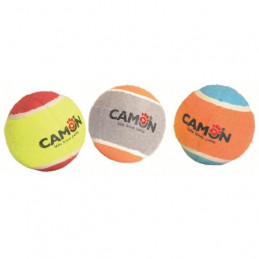 CAMON Palla da Tennis Colorata in Gomma Piena 6,20 cm. -