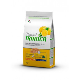 Trainer Natural Adult Mini con Pollo Fresco e Riso da 7 kg. -