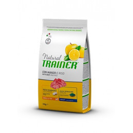 Trainer Natural Adult Mini con Manzo e Riso da 2 kg. -