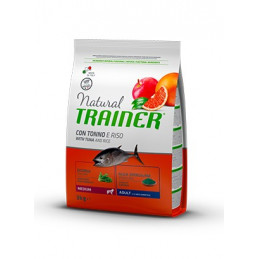 Trainer Natural Adult Medium con Tonno e Riso da 3 kg. -