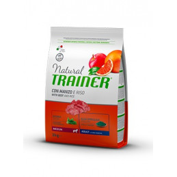 Trainer Natural Adult Medium con Manzo e Riso da 3 kg. -