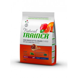 Trainer Natural Adult Medium con Prosciutto Crudo e Riso da 3 Kg -