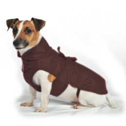 FASHION DOG Cappotto impermeabile con nylon a doppio strato Marrone Taglia 24 -