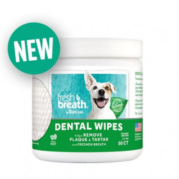 TROPICLEAN Fresh Breath Dental Wipes -