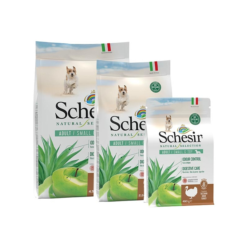 SCHESIR Natural Selection Adult Small & Toy con Tacchino 490 gr. -