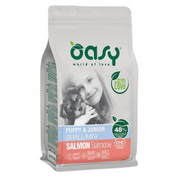 OASY One Animal Protein Puppy&Junior Mini con Salmone 2,5 kg. -