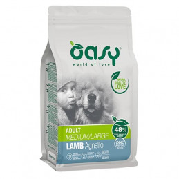 OASY One Animal Protein Adult Medium&Large con Agnello 2,5 kg. -