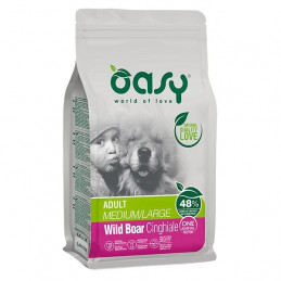 OASY One Animal Protein Adult Medium&Large con Cinghiale 2,5 kg. -