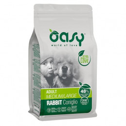 OASY One Animal Protein Adult Medium&Large con Coniglio 2,5 kg. -