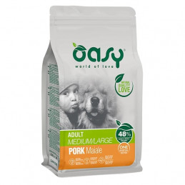 OASY One Animal Protein Adult Medium&Large con Maiale 2,5 kg. -