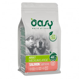 OASY One Animal Protein Adult Medium&Large con Salmone 2,5 kg. -