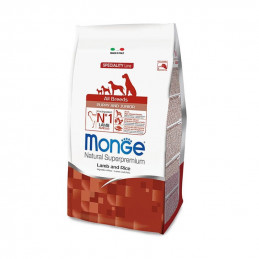 Monge cane puppy & junior all breeds agnello e riso 12 kg -