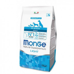 Monge  Adult Light con Salmone e Riso da 12 Kg All Breeds -