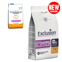EXCLUSION Diet Hypoallergenic Medium/Large Breed Anatra e Patate 12kg -