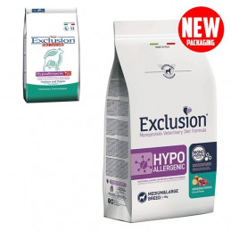 EXCLUSION Diet Hypoallergenic Medium/Large Breed Cervo e Patate 2 kg. -