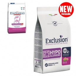 EXCLUSION Diet Hypoallergenic Medium/Large Breed Maiale e Piselli 2 kg. -