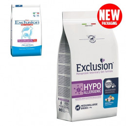 EXCLUSION Diet Hypoallergenic Medium/Large Breed Pesce e Patate 12 kg. -