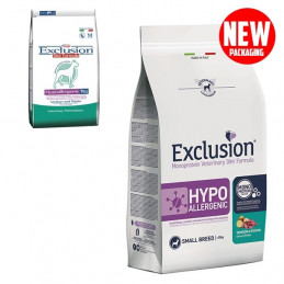 EXCLUSION Diet Hypoallergenic Small Breed Cervo e Patate 2 kg. -