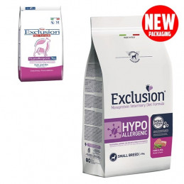 EXCLUSION Diet Hypoallergenic Small Breed Maiale e Piselli 2 kg. -