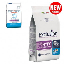 EXCLUSION Diet Hypoallergenic Small Breed Pesce e Patate 2 kg. -