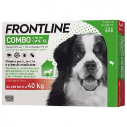 Frontline combo cani extra large 3 pipette 4,02 ml oltre 40 kg -