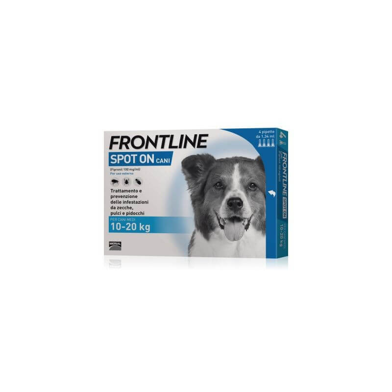 Frontline spot on cani medi 4 pipette 1,34 ml 10-20 kg -