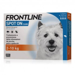 Frontline spot on cani piccoli 4 pipette 0,67 ml 2-10 kg -