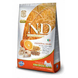Farmina n&d low grain cane mini farro avena merluzzo arancia 2,5 kg -