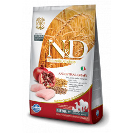 Farmina n&d low grain cane medio farro avena pollo e melograno 2,5 kg -