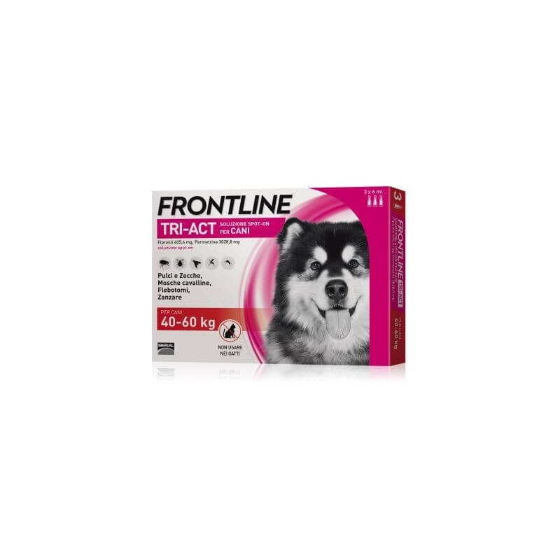Frontline tri-act 3 pipette 6 ml 40-60 kg -