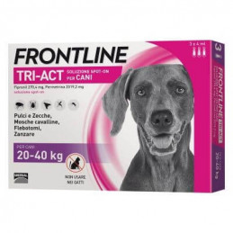 Frontline tri-act 3 pipette 4 ml 20-40 kg -