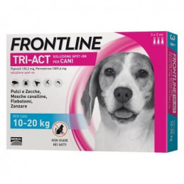 Frontline tri-act 3 pipette 2 ml 10-20 kg -