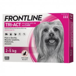 Frontline tri-act 3 pipette 0,5 ml 2-5 kg -
