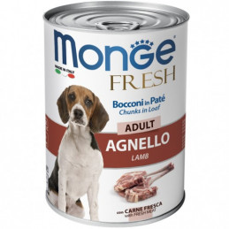 MONGE CANE  FRESH ADULT AGNELLO lattina 400 gr. -