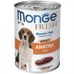 MONGE CANE  FRESH ADULT ANATRA lattina 400 gr. -