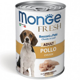 MONGE CANE  FRESH ADULT POLLO lattina 400 gr. -