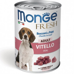 MONGE CANE  FRESH ADULT VITELLO lattina 400 gr. -