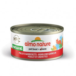 Almo Nature Gatto HFC Natural Pollo e Gamberetti gr.70 X 6 lattine -