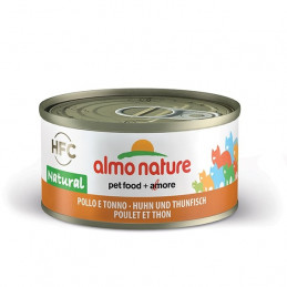 Almo Nature Gatto HFC Natural Pollo e Tonno gr.70 X 6 lattine -