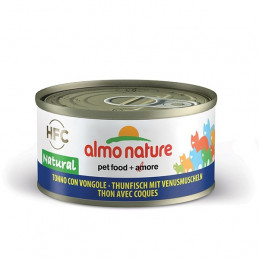 Almo Nature Gatto HFC Natural Tonno con Vongole gr.70 X 6 lattine -