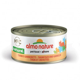 Almo Nature Gatto HFC Natural Tonno e Gamberetti gr.70 X 6 lattine -