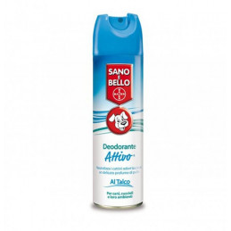 Bayer deodorante talco attivo 250 ml sano & bello -