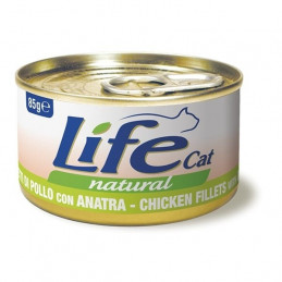 LIFE GATTO NATURAL POLLO ANATRA 6 scatolette da 85 gr. -