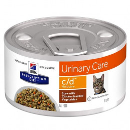 Hill's Pet Nutrition - Gatto Prescription Diet Stew c/d Urinary Care Multicare con Pollo e Verdure 82 Gr. -
