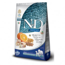 Farmina n&d ocean low grain medio maxi merluzzo arancia 12 kg -