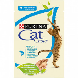 CAT CHOW ADULT+1 buste SALMONE  24 bustine 85 gr. -