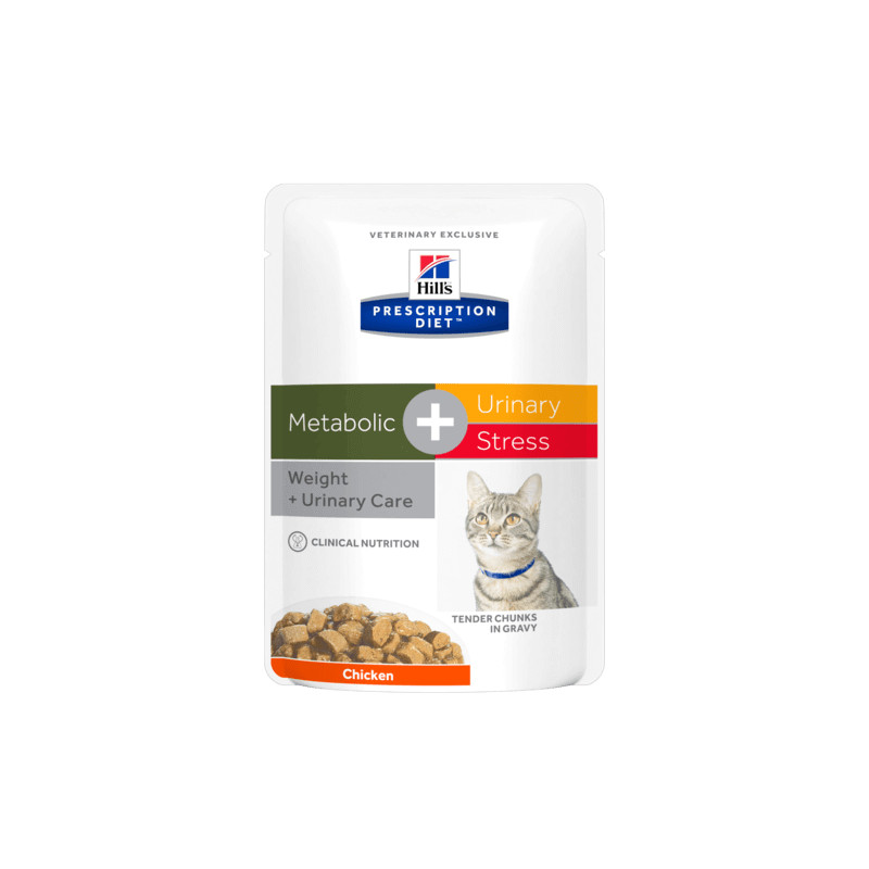 hill's metabolic + urinary stress gatto 12 buste 85 gr -